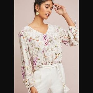 [Anthropologie] NWT Pernille Tie-Sleeve Blouse